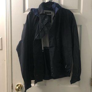 Vintage Nautica raincoat in navy blue